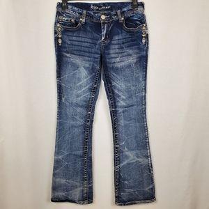 Ariya jeans sz 11/12 distressed Aztec bootcut